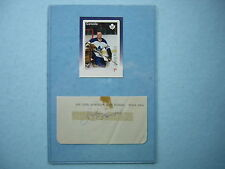 1960`S JOHN JOHNNY BOWER TORONTO MAPLE LEAFS AUTO AUTOGRAPH POSTAGE STAMP NICE!!