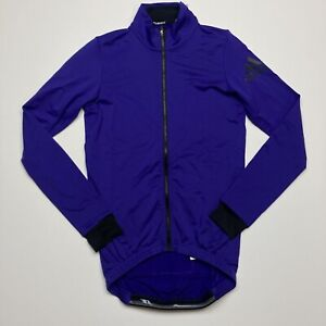 NEW Men's Size Medium Adidas Cycling Jacket Purple BR7815 Full Zip Long Sleeve