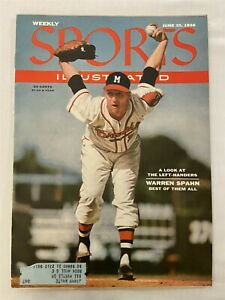 1956 Sports Illustrated MILWAUKEE BRAVES The Best LEFTY of Them All WARREN SPAHN