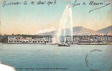 Br34558 Geneve jet d eau et Mont Blanc    Switzerland