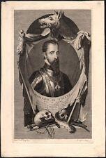 Pieter Van Gunst. Ferdinand de Tolède, Duc d'Albe. Eau-forte vers 1700