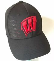 Wisconsin Badgers Top of the World Stretch Fit Hat Black