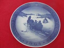 1964 ROYAL COPENHAGEN CHRISTMAS  OLD PLATE HORSE DRAWN SLED
