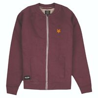 Zoo York - Bomber Zip Jacket - Mens - Logo - Burgundy - Sizes S,M,L,XL