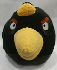 "Angry Birds Space ' Black Bomb ' 14""x 14""  Large Plush Soft No Sound Rovio"