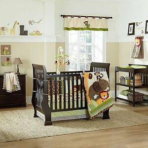 Kulala 5 Piece Baby Crib Bedding Set with Bumper by Nojo Safari - Jungle