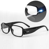 LED Iluminación Gafas de Lectura Anteojos Noche Protección Ocular Protectoras