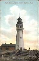 Buffalo NY Harbor Lighthouse c1910 Postcard