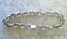 Nice Vintage Sterling Cable Link Bracelet - Perfect for a Charm Bracelet!