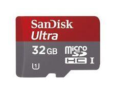 SanDisk MicroSDHC 32 Go Class 10 Carte Mémoire avec Adaptateur (SDSDQUA-032G-U46A)