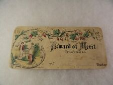 Antique Reward of Merit - Hand Colored - Boys with Hoop