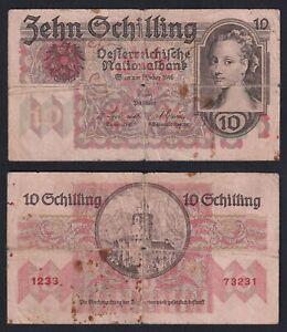 Austria 10 schilling 1946 MB/F  C-05