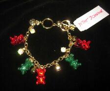 BETSEY JOHNSON CHRISTMAS FESTIVE RED AND GREEN GUMMY BEAR BRACELET