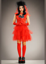 Womens Beetlejuice Style Lydia Red Bride Costume