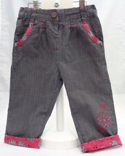 La Compagnie des Petits pantalon à petits carreaux gris rose bébé fille 18 mois