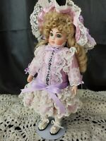 """Small petite Depose 10"""" Antique French ALL Bisque Doll ART Reproduction costume"""