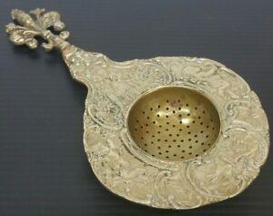 Italy Copper Tea Infuser Strainer Spoon Ornate