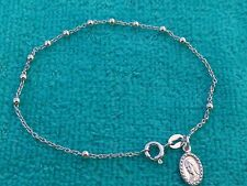 Sterling silver 925 catholic rosary bracelet with Cross pendant