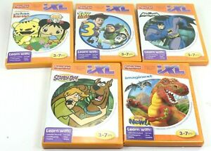 5 Game Lot Fisher Price iXL Learning System 3-7 yrs, Batman, Scooby-Doo