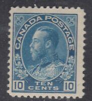 "Canada MINT OG Scott #117  10 cent blue  ""Admiral""   F"