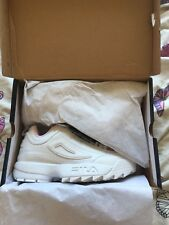 Fila Disruptor ii trainers White And Pink Limited Edition Unworn Size 4 BNWB