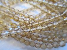 1.5 Mass (1800pcs) Czech Light Topaz Glass Faceted 4mm Beads