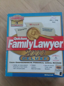 Vintage Computer Program - Quicken Family Lawyer 2000 Deluxe (1999) CD-ROM (PC)