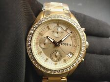 New Old Stock - FOSSIL DECKER ES3352 - Chronograph Rose Gold Tone SS Lady Watch