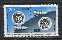 31382) DDR 1963 MNH Bykovski, Tereshkova 2v. Scott #656a