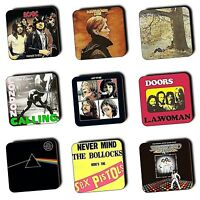 Seventies Music Albums Covers 1970's Music - Coasters - Wood - Buy 3 Get 1 FREE