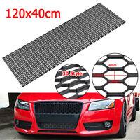 "Black Honeycomb RS Style ABS Mesh Grille Fog Custom Diy Kit 43/""x16/"" For All Car"