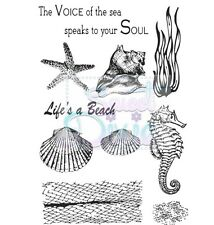 Sweet Dixie Sea Creatures Stamp set A6 - Life's a Beach scrapbook card & crafts