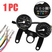 Motorcycle Odometer Speedometer Tachometer Gauge Fit For Chopper Bobber Racer