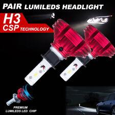 H3 108W 12000LM LED Headlight KIT Philips 6500K White Beam vs Halogen Xenon bulb