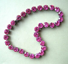 1251  / COLLIER   STRASS  ROSES  9 MM