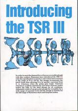 """RANSOMES """"TSR III"""" Trattore Aratro Reversibile OPUSCOLO illustrativo"""