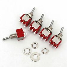 5pcs Salecom T8011 6pin 2position On On Dpdt Latching Mini Toggle Switch