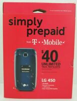NEW Simply Prepaid LG 450 - Black (T-Mobile) Cellular Flip Phone