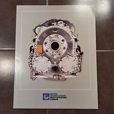 Original Pratt & Whitney PW100 Tri-Fold Brochure, 8.5 x 11