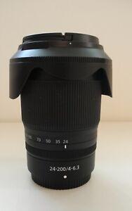 Nikkor 24-200 Z Lens with Hood & Lens Caps in Original Packaging