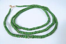 Alte grüne Chevron Glasperlen AZ56 Old green Chevron Beads Murano Afrozip