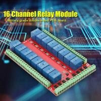 Isolated Type 16 Channel Relay Module Interface Board Level Trigger DC 5/12/24V