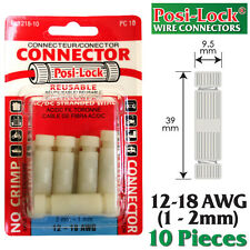 POSI-LOCK 12-18 AWG WIRE CONNECTORS, REUSABLE, NO CRIMPING - 10 PK