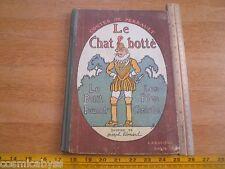 Le Chat Botte Le Petit Pouce Larousse France 1920s childrens book Joseph Lemard