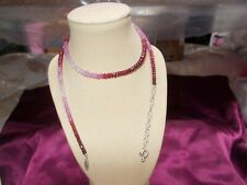 rain bow ruby small sellect real bead NECKLACE 18 INCHES UNUSED