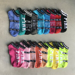 10 Pairs/lot Victoria's Sock VS Sock LOVE PINK No Show Socks Ankle Socks