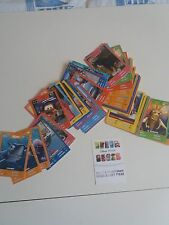 lot de  cartes disney pixar auchan