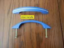 NOS amerock, original painted metal handles Blue with white lines