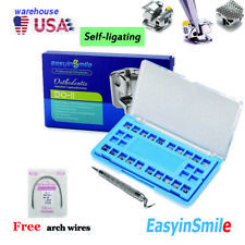 Dental Self Ligating Orthodontic Metal Brackets Roth Mbt Hooks 022 Easyinsmile
