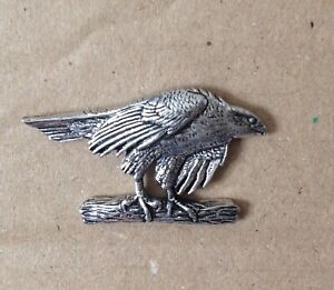 Hawk Silver Pewter Pin Badge - Great Detail And Quality